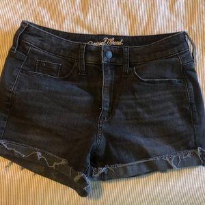 Faded black shorts